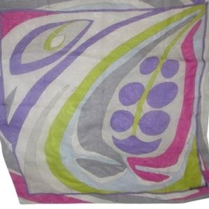 Emilio  Pucci Pink Purple Green Blue Abstract Wrap